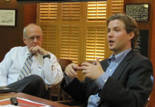 Shorenstein Center Director Alex S. Jones and Alec Ross.
