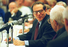 Robert A. Caro at the 2003 Theodore H. White Seminar.