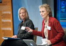 "Kristin Gilger of ASU and Jody Brannon of News21 describe ""The News21 Experience."""