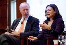 David Gergen and Sheryl Sandberg