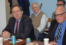 David Sanger (left) and Alex S. Jones.