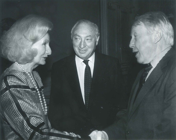 Phyllis Shorenstein, Walter Shorenstein, Frank Stanton (president emeritus of CBS)