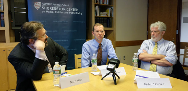 Nicco Mele, Doug Elmendorf, and Richard Parker