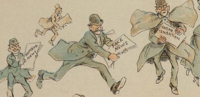 Vintage newspaper illustration