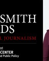 Goldsmith Awards Logo and Martha Raddatz
