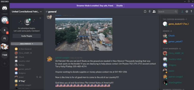 False information about caravan animating militia activity at the