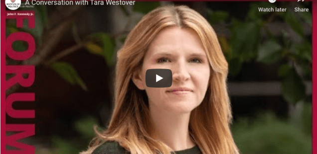 Tara Westover in conversation with Nancy Gibbs