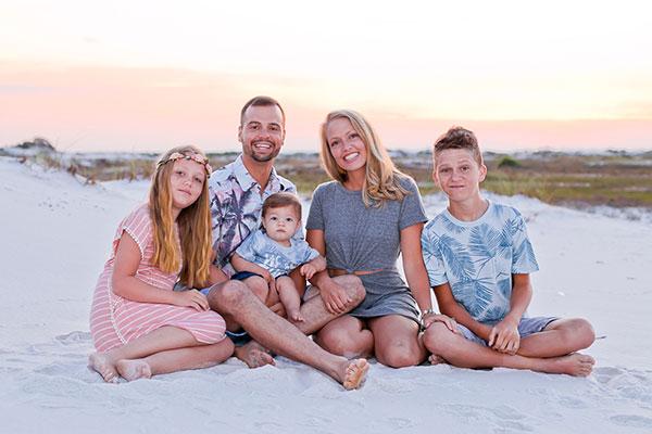 family beach portraits pensacola beach destin florida photographer