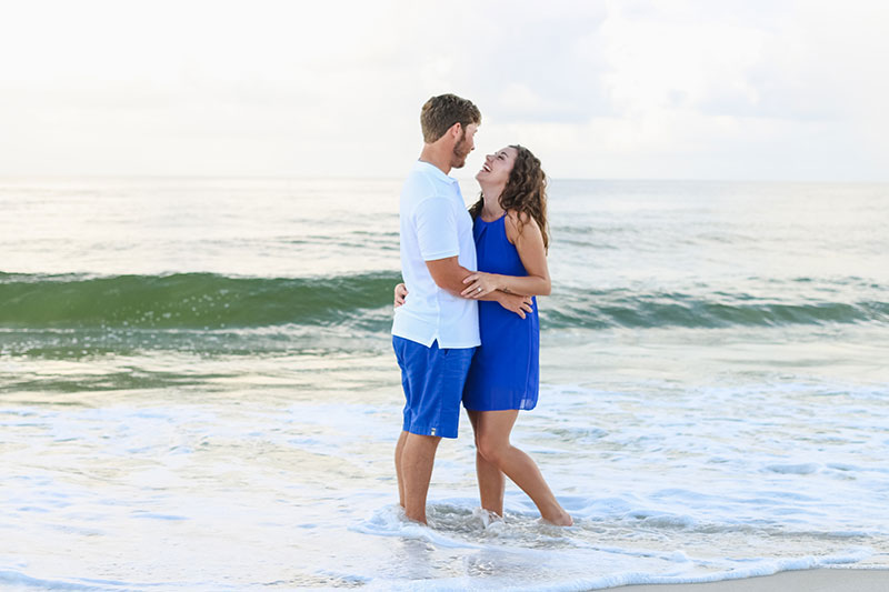 Sunrise Engagement Photography Gulf Shores Photographer Orange Beach Portraits Fort Morgan Couple Photography Gulf State Park Pictures