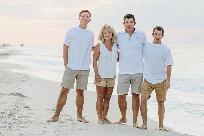 Gulf Shores Family Photography Sunset Beach Portraits Gulf Shores Photography Orange Beach Photographer Destin Beach Pictures