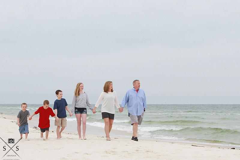 Family Beach Portraits at the Gulf Shores Plantation