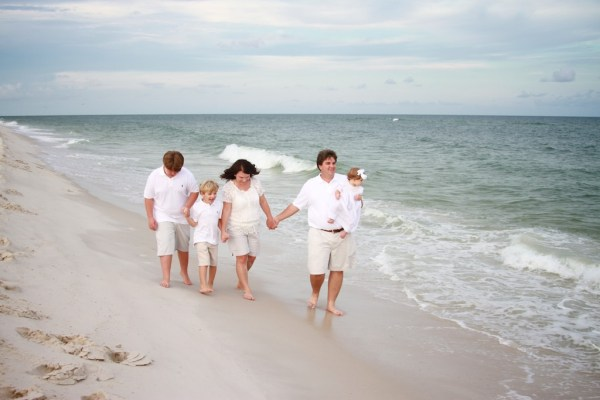 Family Beach Portraits At The Gulf State Park Pier Gulf Shores Photographer