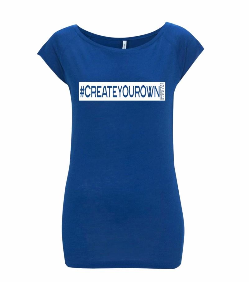 Ladies Midnight Blue Create your own hashtag Raglan T-shirt