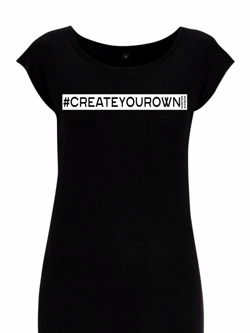 Ladies Black Create your own hashtag Raglan T-shirt