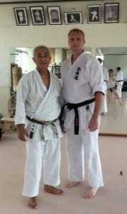 David Sensei with Sensei Tamake