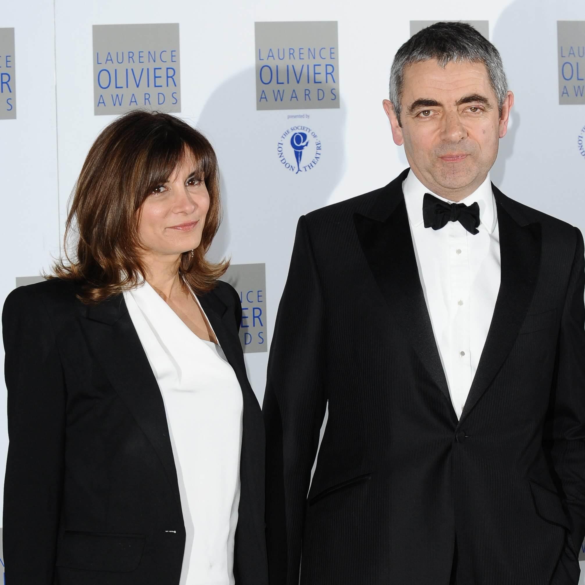Rowan Atkinson and Sunetra Sastry