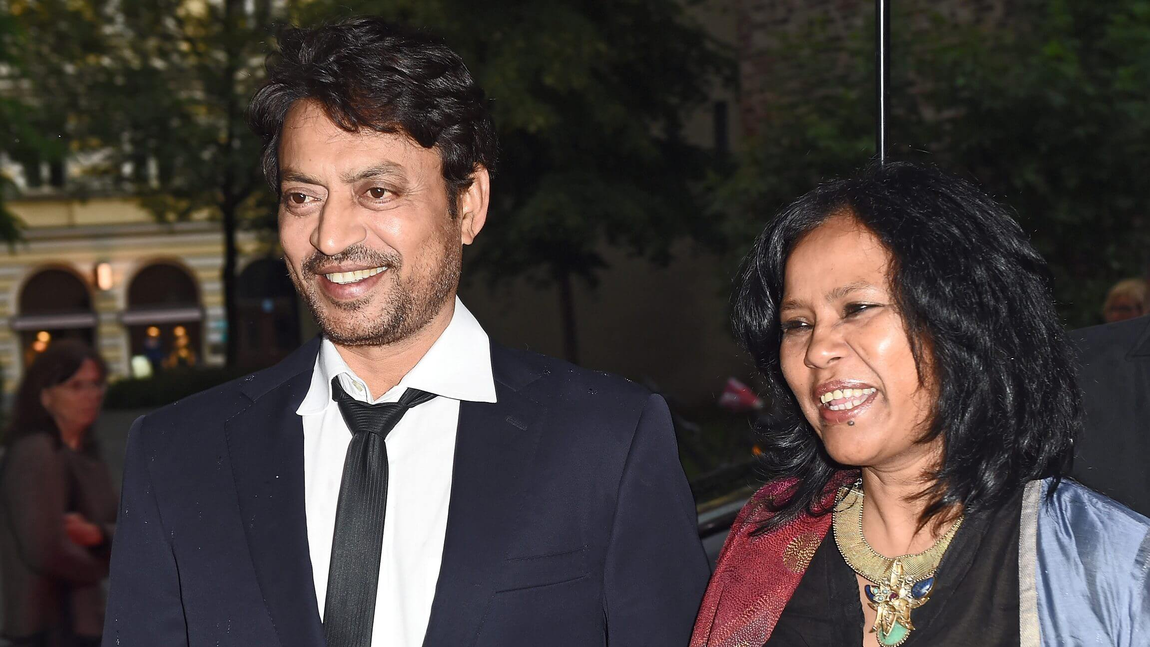 Irrfan Khan and wife Sutapa Sikdar attend the Qissa Premiere on June 30, 2014 in Munich, Germany
