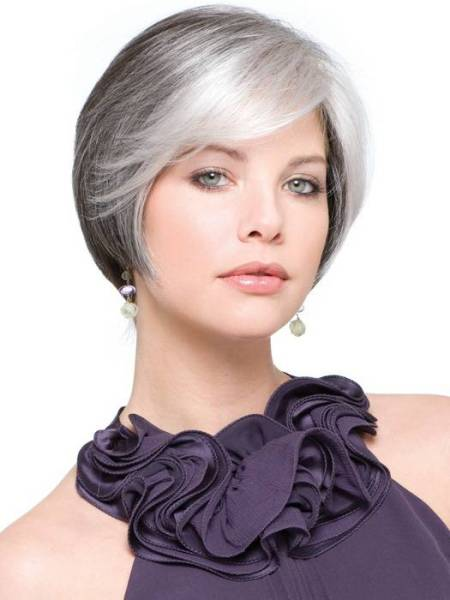 best short haircuts for gray hair best hairstyles for gray hair 2014 4020 | Best Short Hairstyles for Gray Hair