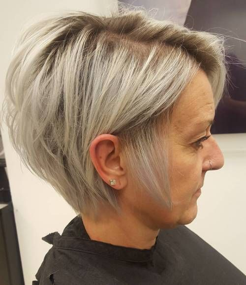 Stacked Bob Hairstyle For Older Women Short Hairstyles 2019