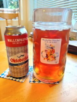 Stein and can of marzen beer