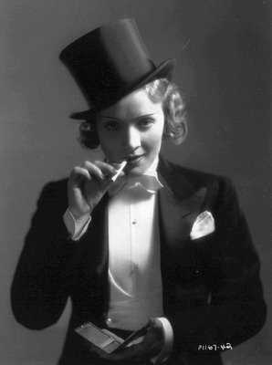 Marlene Dietrich via Swing Fashionista