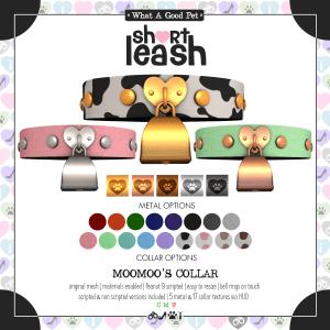 Short Leash Moomoos Collar ad