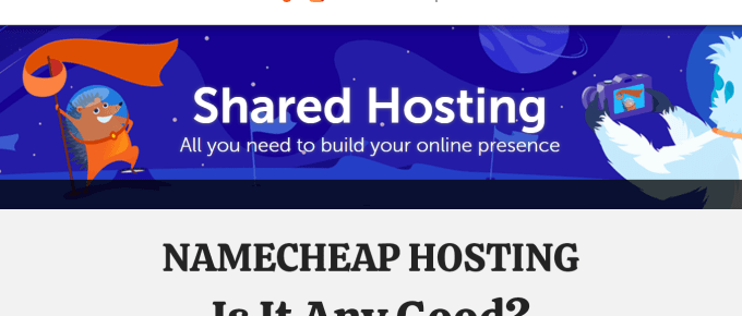 namecheap shared web hosting featured image