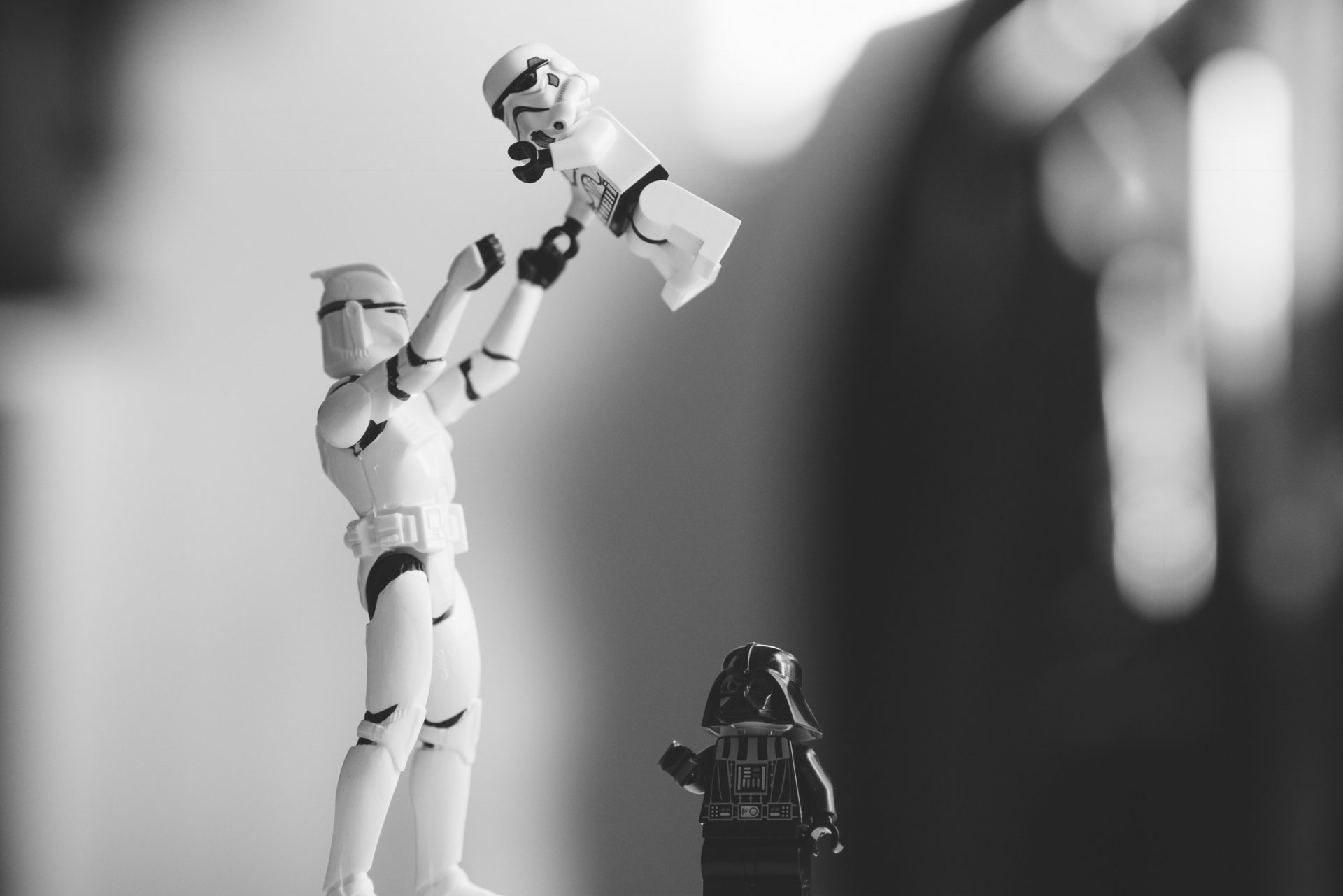 Star Wars LEGO Figurines of Parent and Kids