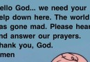 Dear God, we need you in all times