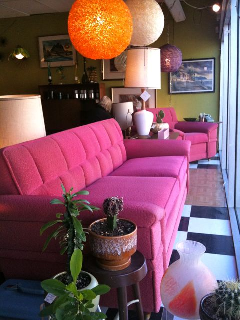 pink couch at swank   the both and   shorts and longs   julie rybarczyk