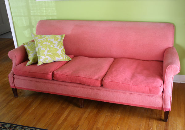 pink couch pink sofa | shorts and longs | julie rybarczyk 12
