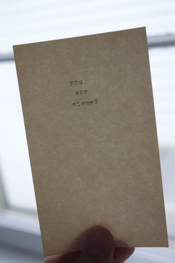 you are missed - shorts and longs - julie rybarczyk