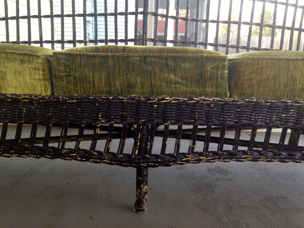 screen porch wicker couch - shorts and longs - julie rybarczyk3