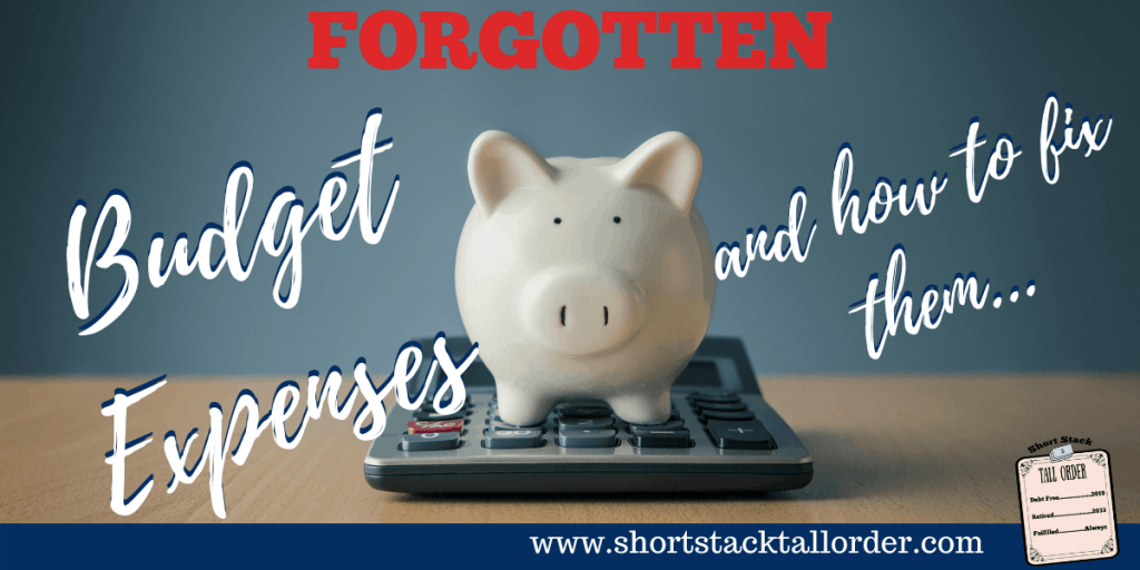 Forgotten Budget Expenses