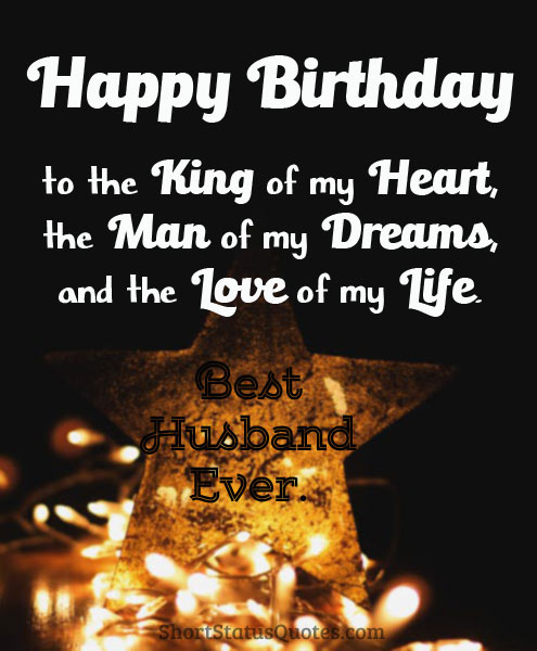 Birthday Status For Husband Romantic Wishes Heartfelt Messages