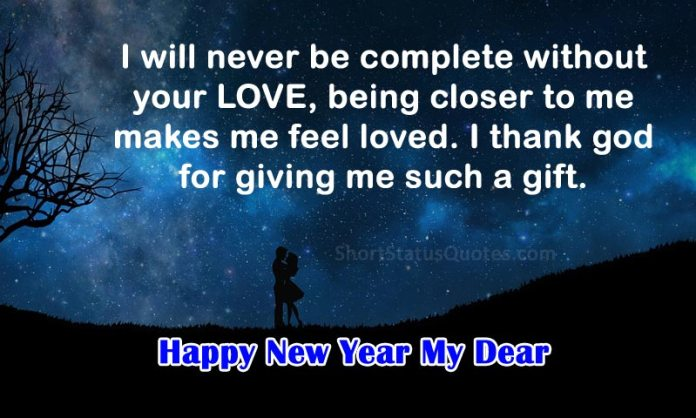 Romantic New Year Status