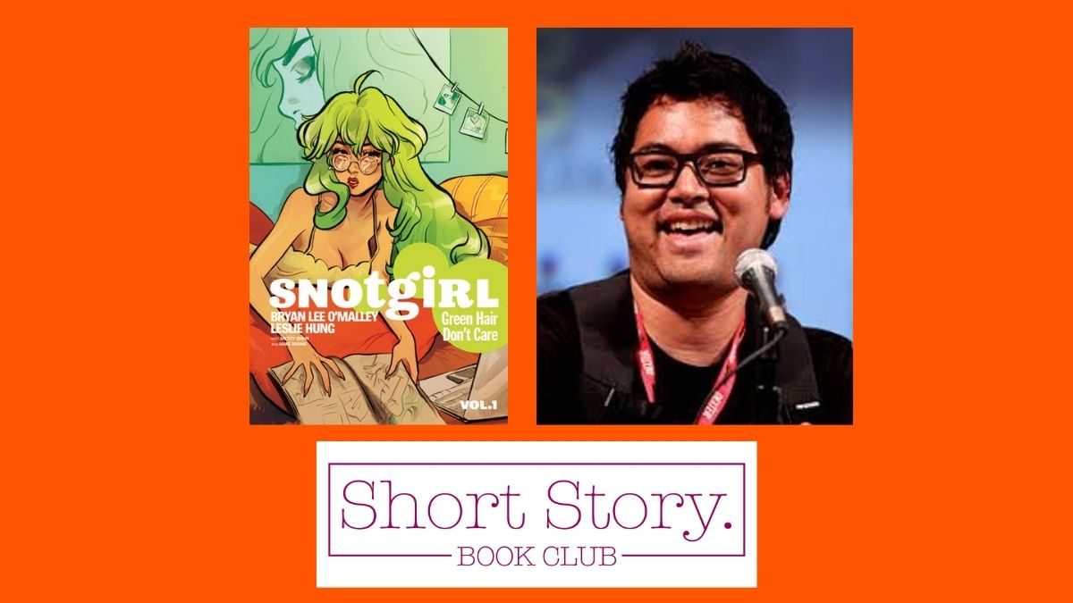 snotgirl cover with photo of author bryan omalley