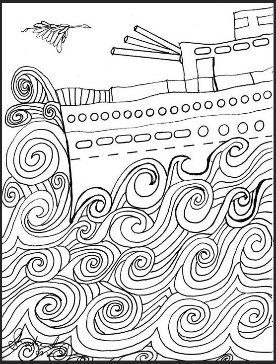 Battleship Drawing by Shoshanah Lee Marohn