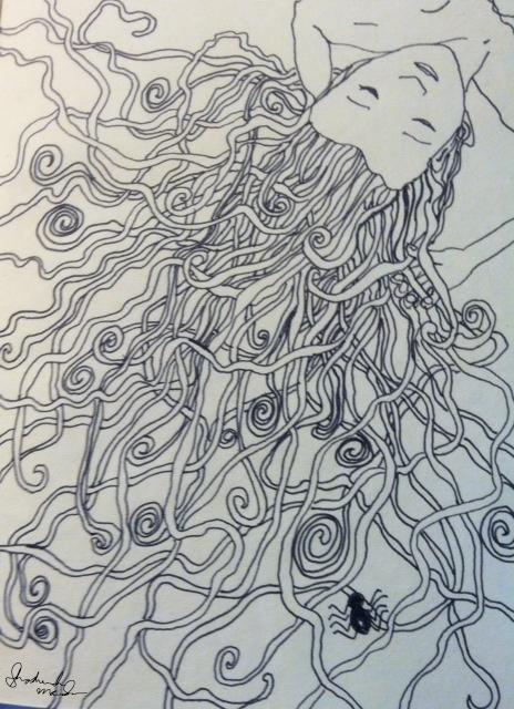 Hair Sketch Shoshanah Marohn 2016