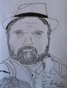 portrait of dwayne fry with a turkey by shoshanah lee marohn 2016