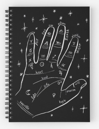 mystical hand notebook