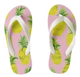 pineapple flip flops kid Z