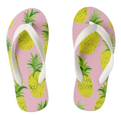 pineapple flip flops kid Z