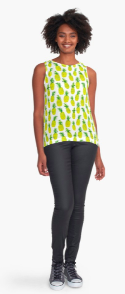 pineapple party top RB