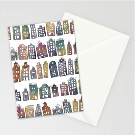 rainbow houses card