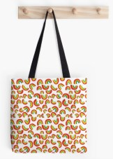 dancing rainbows tote