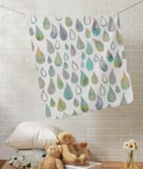 raindrops baby blanket Z