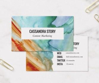 abstract art business card design