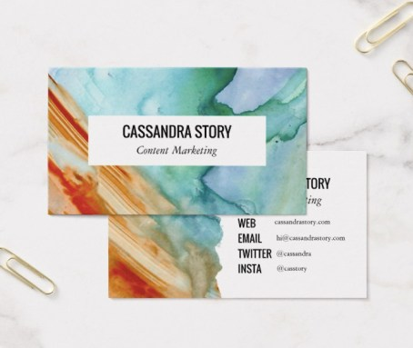 abstract art business card design