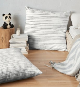 thin lines pillows by Shoshannah Scribbles on Redbubble